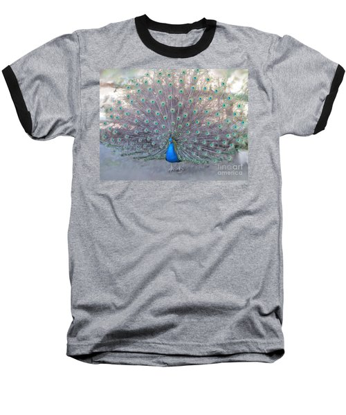 Baseball T-Shirt featuring the photograph Peacock3  by Laurianna Taylor