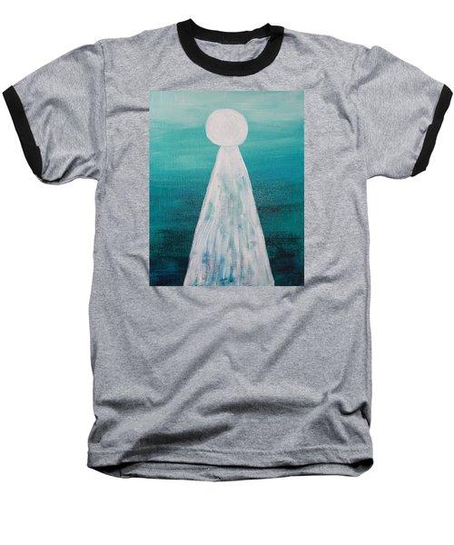 Abstract Pearl On Teal Baseball T-Shirt