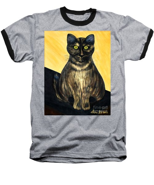 Baseball T-Shirt featuring the painting Pearl. Soul Collection by Oksana Semenchenko