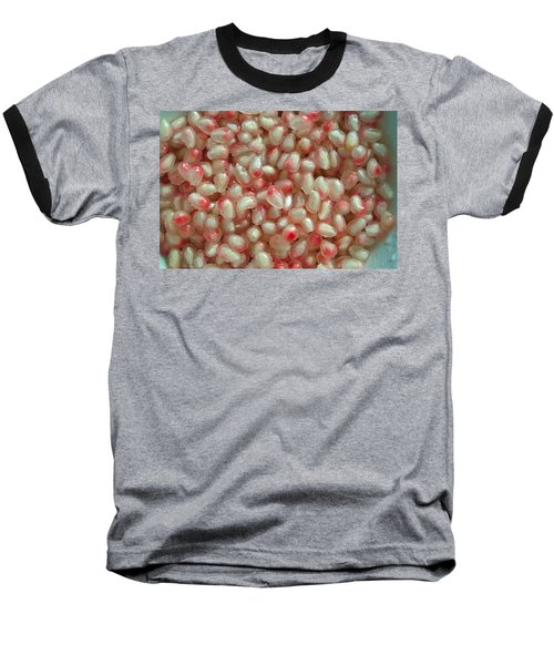 Pearly Pomegranate Seeds Baseball T-Shirt