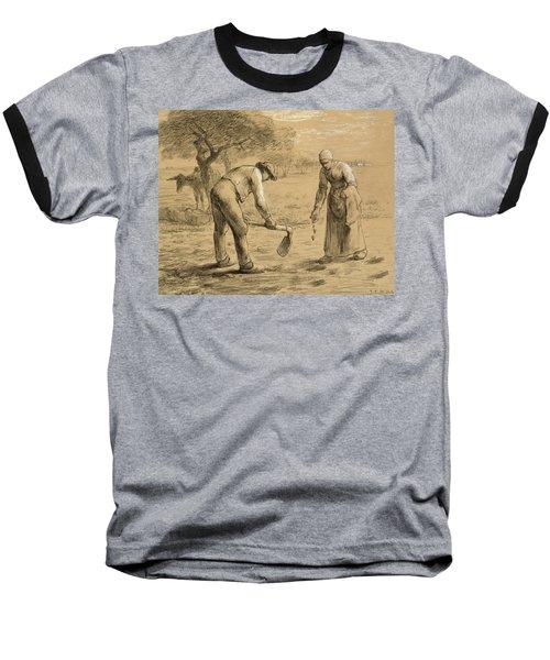 Peasants Planting Potatoes  Baseball T-Shirt
