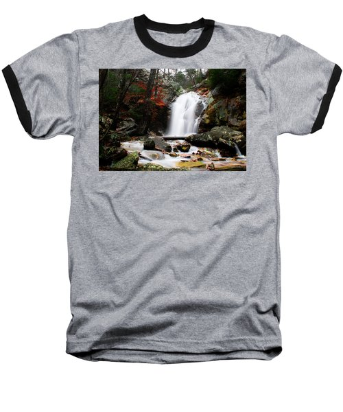 Peavine Falls In Autumn Baseball T-Shirt by Shelby  Young