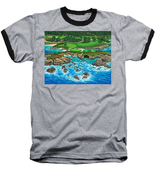 Pebble Beach 15th Hole-north Baseball T-Shirt