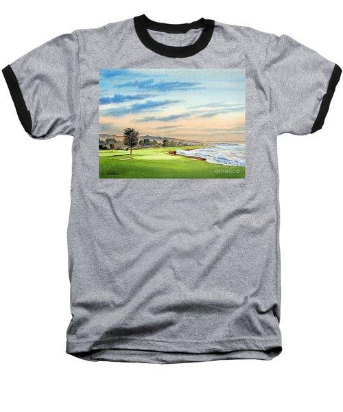 Pebble Beach Golf Course 18th Hole Baseball T-Shirt