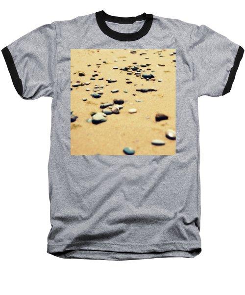 Pebbles On The Beach Baseball T-Shirt