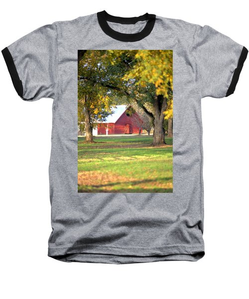 Baseball T-Shirt featuring the photograph Pecan Orchard Barn by Gordon Elwell
