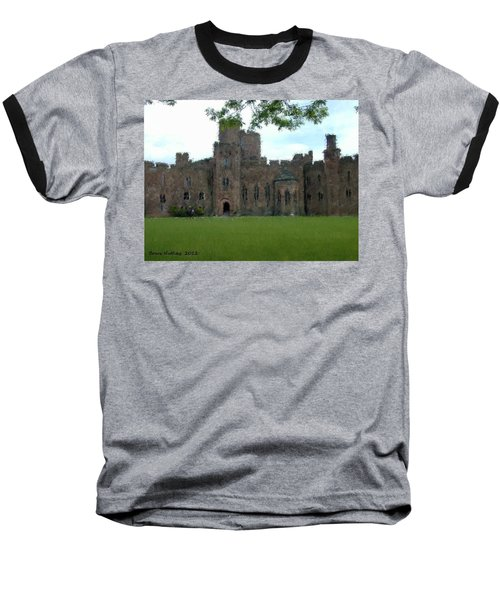 Peckforton Castle Baseball T-Shirt by Bruce Nutting