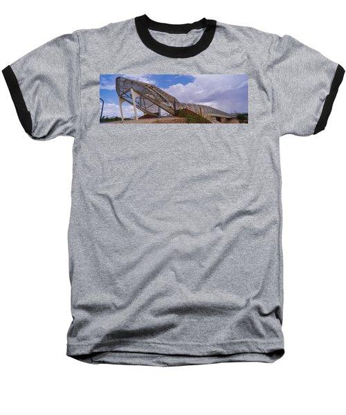 Pedestrian Bridge Over A River, Snake Baseball T-Shirt