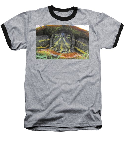 Baseball T-Shirt featuring the photograph Peek A Boo by Judith Morris