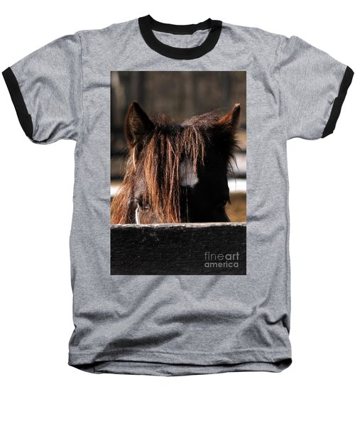 Peek-a-boo Pony Baseball T-Shirt
