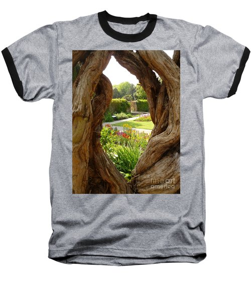 Baseball T-Shirt featuring the photograph Peek At The Garden by Vicki Spindler