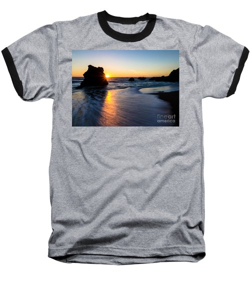 Baseball T-Shirt featuring the photograph Peeking Sun by CML Brown