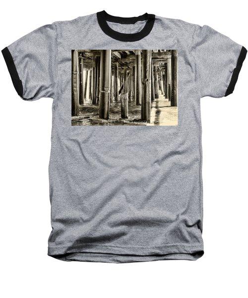 Peeking Under The Pier By Diana Sainz Baseball T-Shirt
