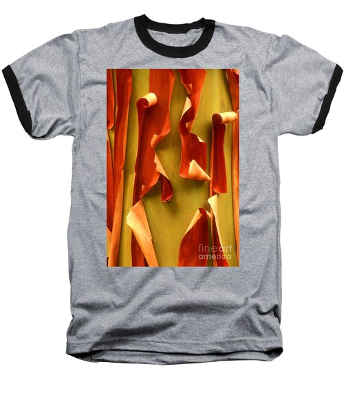 Peeling Bark Pacific Madrone Tree Washington Baseball T-Shirt