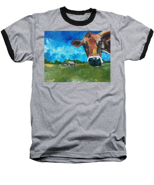 Peeping Bessie Baseball T-Shirt
