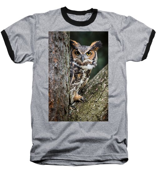 Baseball T-Shirt featuring the photograph Peering Out by Dale Kincaid