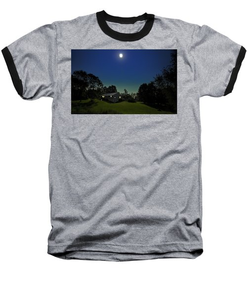 Baseball T-Shirt featuring the photograph Pegasus And Moon by Greg Reed