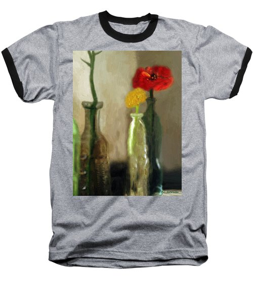 Peggy's Flowers Baseball T-Shirt
