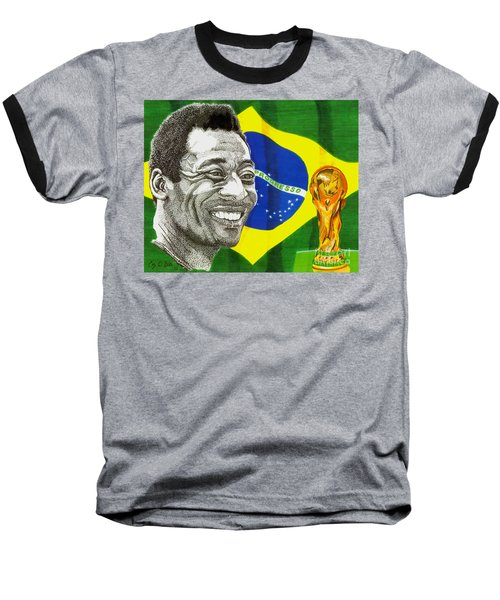 Pele Baseball T-Shirt by Cory Still