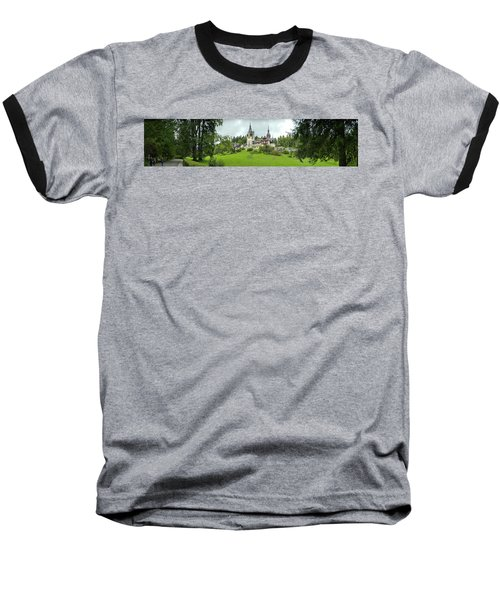 Peles Castle In The Carpathian Baseball T-Shirt by Panoramic Images