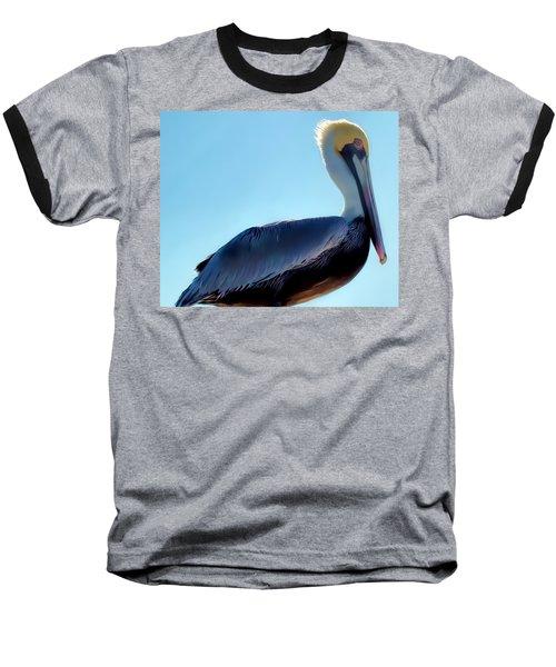 Baseball T-Shirt featuring the photograph Pelican 1 by Dawn Eshelman