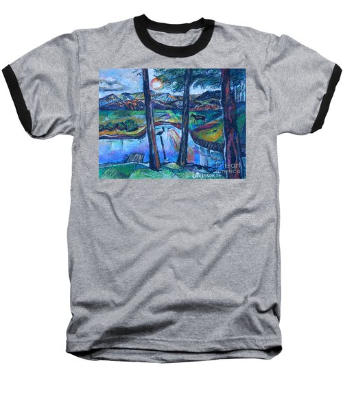 Pelican And Moose In Landscape Baseball T-Shirt