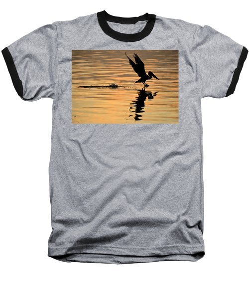 Pelican At Sunrise Baseball T-Shirt