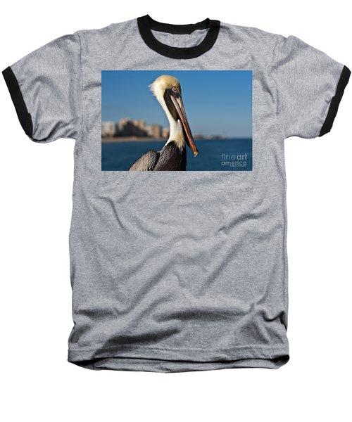 Baseball T-Shirt featuring the photograph Pelican by Barbara McMahon