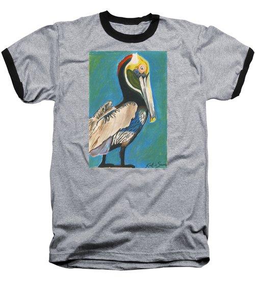Pelican Blue Baseball T-Shirt