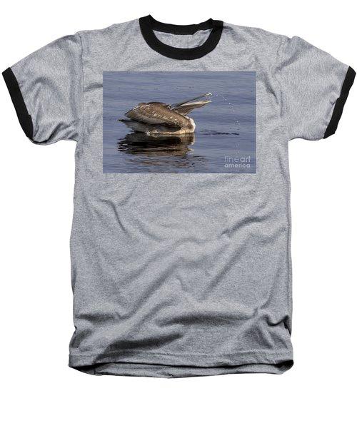 Pelican Fountain  Baseball T-Shirt by Meg Rousher