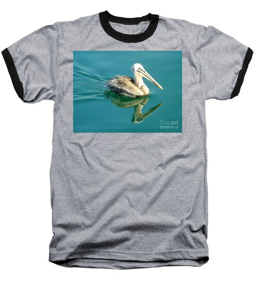 Baseball T-Shirt featuring the photograph Pelican In San Francisco Bay by Clare Bevan