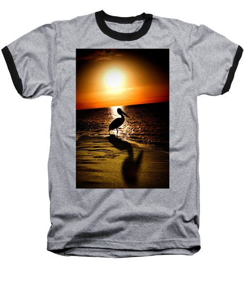 Baseball T-Shirt featuring the photograph Pelican Sunrise by Yew Kwang