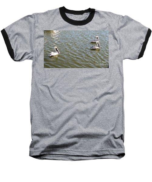 Baseball T-Shirt featuring the photograph Pelicans In Florida by Oksana Semenchenko