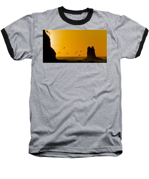 Pelicans On The Wing II Baseball T-Shirt