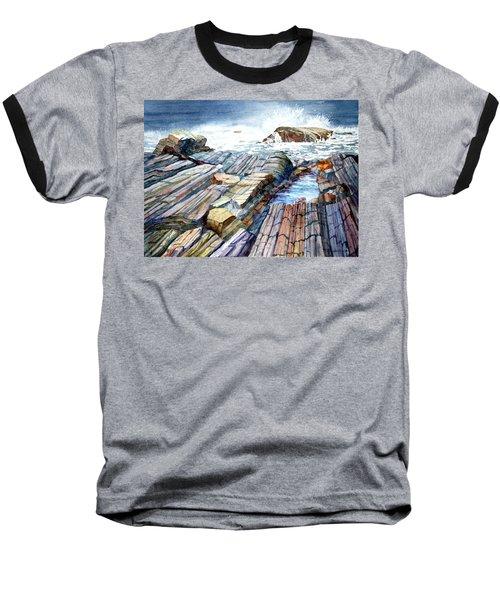 Pemaquid Rocks Baseball T-Shirt