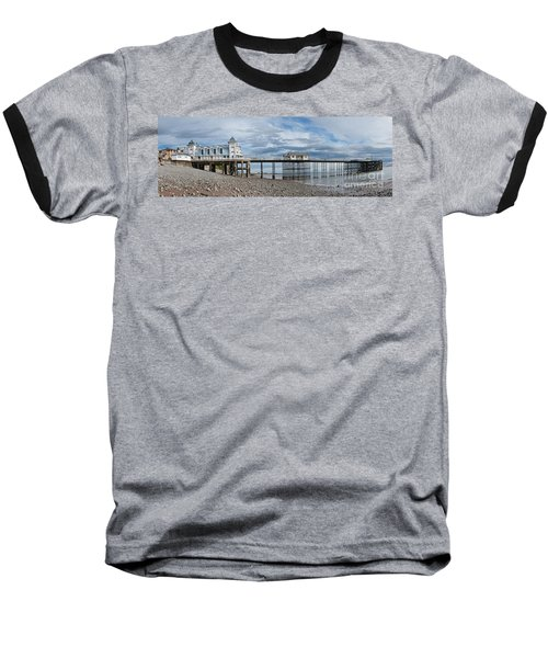Penarth Pier Panorama 1 Baseball T-Shirt by Steve Purnell