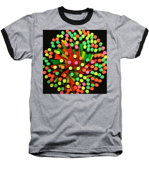 Pencil Blossom Baseball T-Shirt