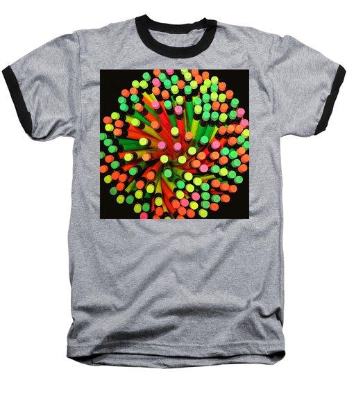 Pencil Blossom Baseball T-Shirt