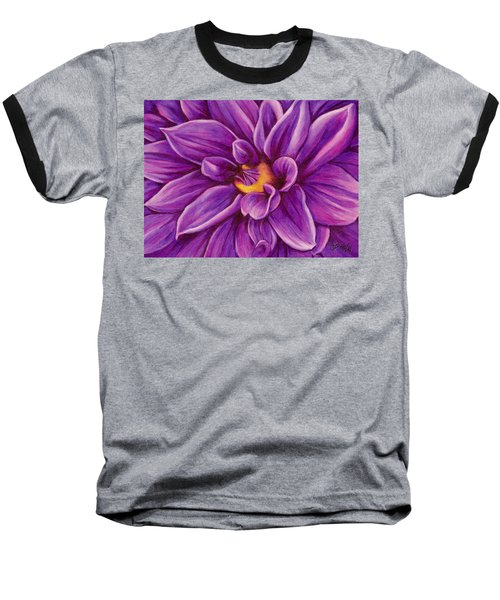 Pencil Dahlia Baseball T-Shirt