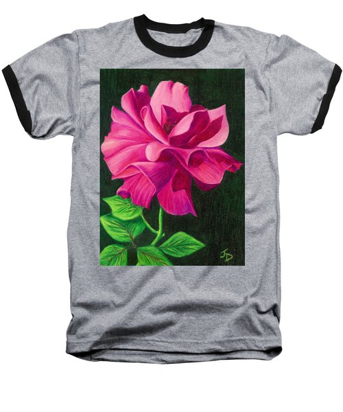 Pencil Rose Baseball T-Shirt