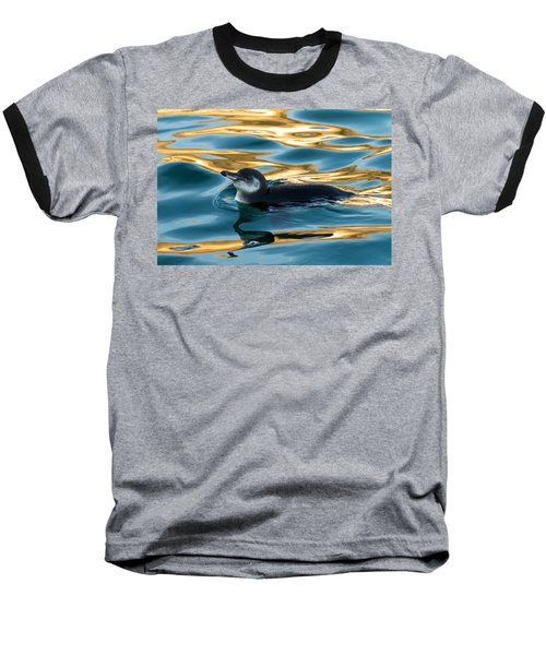 Penguin Watercolor 2 Baseball T-Shirt by David Beebe