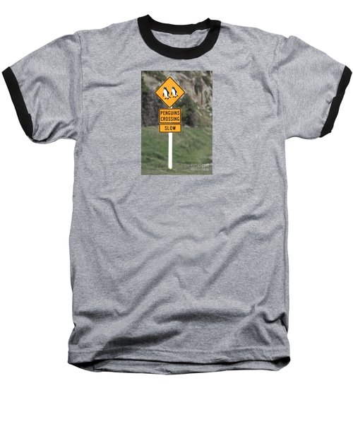 Baseball T-Shirt featuring the photograph Penguins Crossing Oamaru by Nareeta Martin