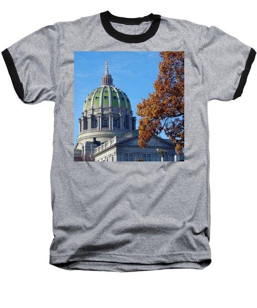 Pennsylvania Capitol Building Baseball T-Shirt by Joseph Skompski