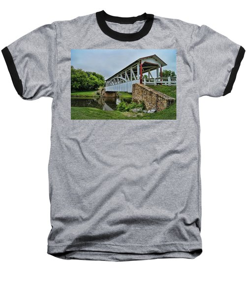 Pennsylvania Covered Bridge Baseball T-Shirt by Kathy Churchman
