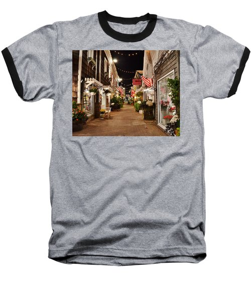 Penny Lane At Night - Rehoboth Beach Delaware Baseball T-Shirt
