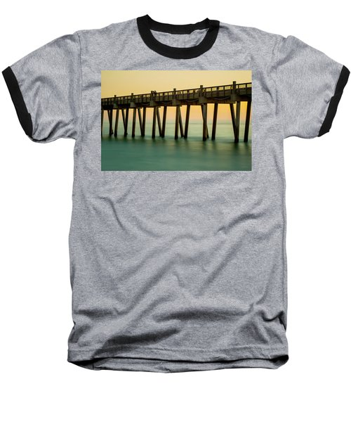 Pensacola Beach Fishing Pier Baseball T-Shirt