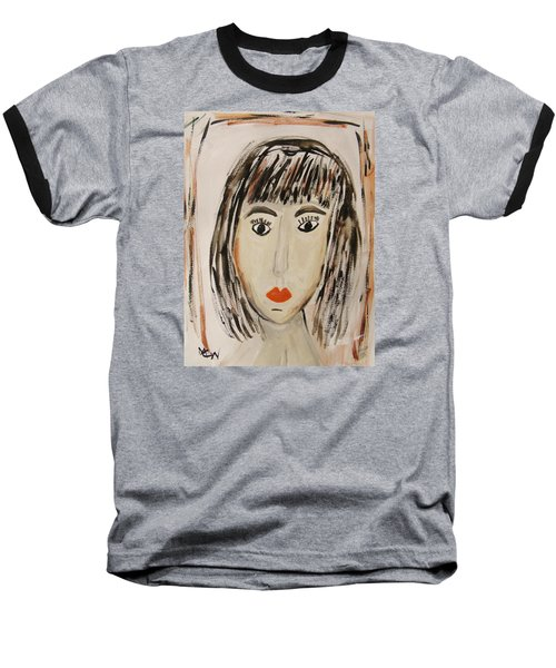 Pensive M.  Baseball T-Shirt by Mary Carol Williams