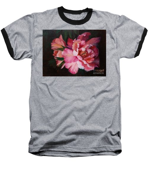 Peonies No 8 The Painting Baseball T-Shirt by Marlene Book