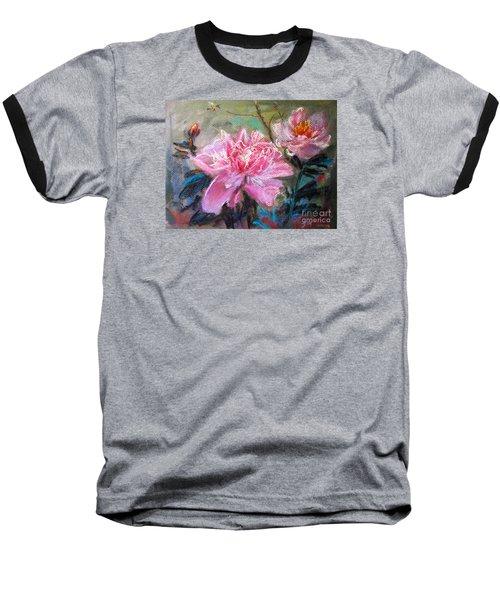Peony Baseball T-Shirt by Jieming Wang