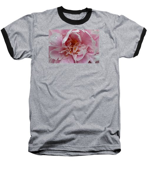 Peony Love Baseball T-Shirt by Julie Andel